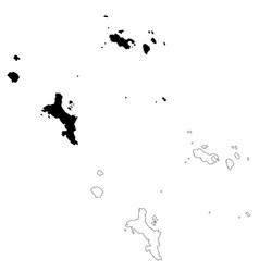 Map seychelles and victoria isolated vector