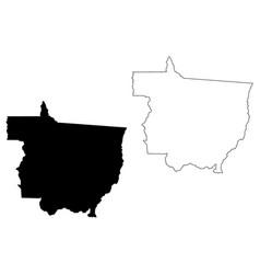 Mato grosso map vector