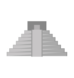 mayan pyramid icon vector image