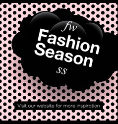 modern promotion square web banner fashion vector image