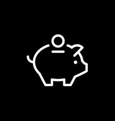 money box line outline icon vector image