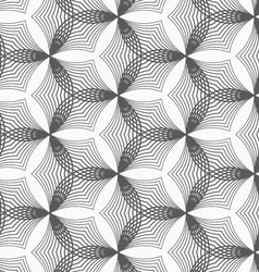 Monochrome linear striped puckered hexagons vector
