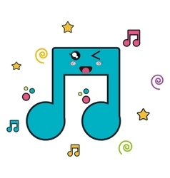Music notes character icon vector