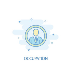 occupation line concept simple line icon colored vector image