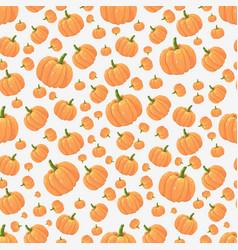 orange pumpkins seamless pattern on light vector image