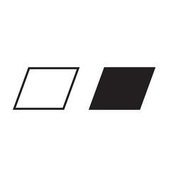 Parallelogram icon geometric square rectangle vector