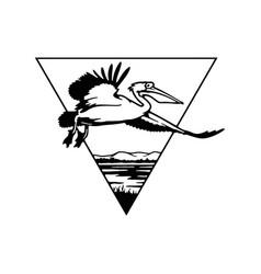 Pelican flight wildlife wildlife stencils vector