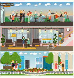 people and relations concept flat poster or vector image