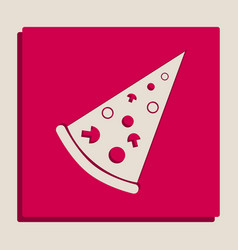 Pizza simple sign grayscale version of vector
