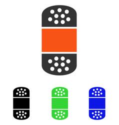 plaster flat icon vector image
