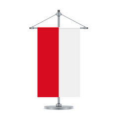 Polish flag on the metallic cross pole vector