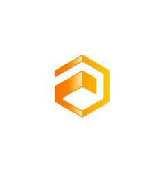 polygon technology logo vector image