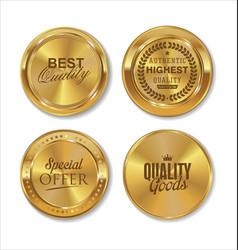 Premium quality golden labels collection 2 vector