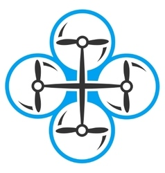 Quad copter icon vector