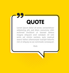 quote text bubble commas note message and comment vector image