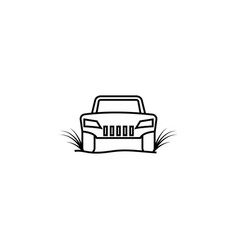 racing car off road icon element of racing for vector image