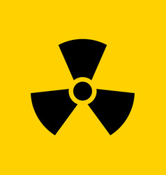 Radioactive icon nuclear symbol uranium reactor vector
