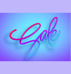 Rainbow sale lettering in 3d style liquid effect vector
