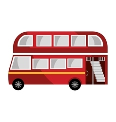 red british bus graphic vector image