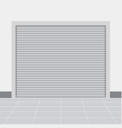 Roller warehouse shutter doors vector