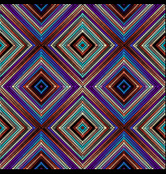 Seamless mosaic art pattern art background vector