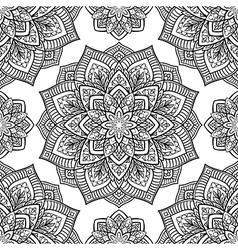 Seamless pattern of mandala vector