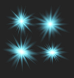 set of glowing lights vector image