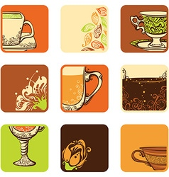Set of teacoffee icons vector