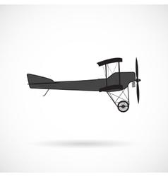 silhouette retro plane times of World War I vector image