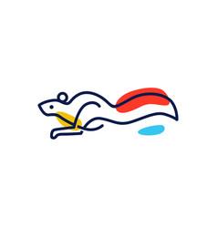 squirrel logo icon vector image