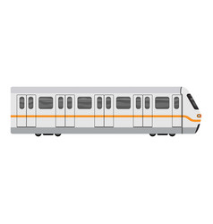 subway city train icon cartoon style vector image