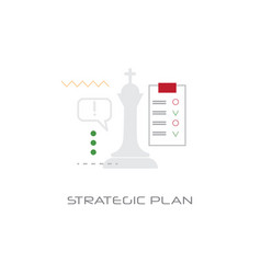 successful business planning future strategic plan vector image