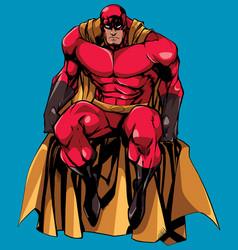 superhero sitting isolated vector image