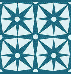 Teal blue geometric abstract floral shapes vector