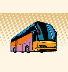 tourist bus public transport vector image