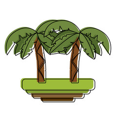 tree palms symbol vector image