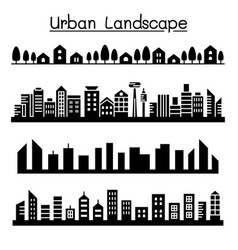 Urban landscape city skyline graphic design vector