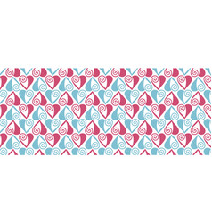 Vintage heart seamless pattern vector