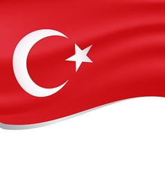 Waving flag of turkey isolated on white vector image