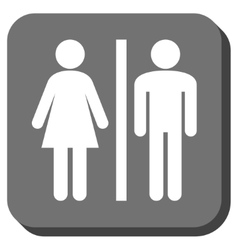 Wc persons rounded square icon vector