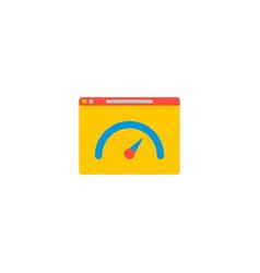 Website performance icon flat element vector