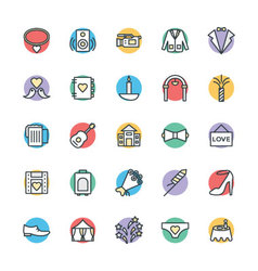 Wedding Cool Icons 4 vector