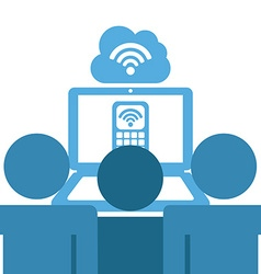 Wifi connection vector