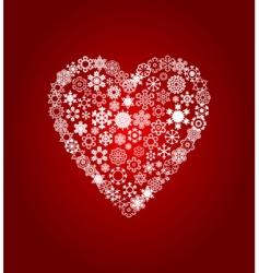 winter heart vector image