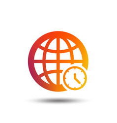 World time sign icon universal time symbol vector