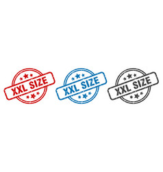 Xxl size stamp xxl size round isolated sign xxl vector