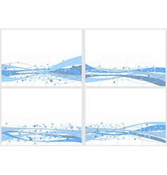 Collection of backgrounds with elements vector image vector image
