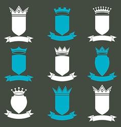 Collection of empire design elements Heraldic vector image