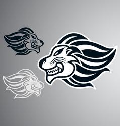lion head logo symbol vector image vector image