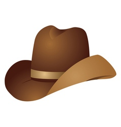 Brown cowboy hat vector image vector image